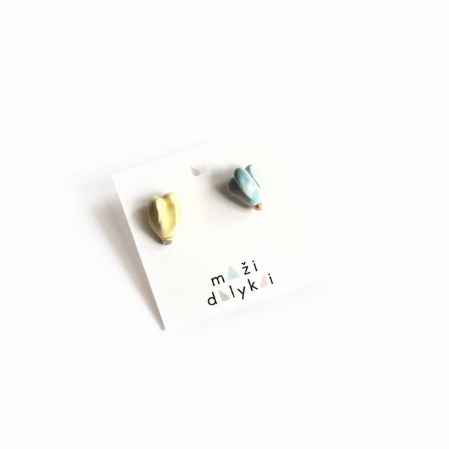"Mini keramikos auskarai ""Magnolijos"""